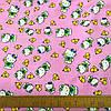 Фланель (байка) Китти Hello Kitty на розовом