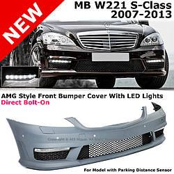 Передний бампер тюнинг обвес Mercedes W221 стиль AMG S63 S65