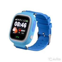 Детские умные gps часы Smart baby watch Q100 Blue Оригинал На русском языке