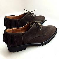 Стильные женские туфли для активной ходьбы от TroisRois из натурального замша. 2.0, Натуральная кожа, TroisRois, Коричневый