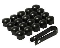 Универсальные заглушки на колесные болты, Черный 17 мм
