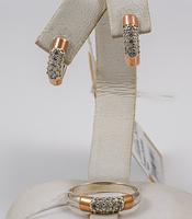 Нежный серебряный набор Лорен 16,5р 17р 17,5р, фото 1