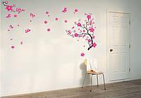 """Интерьерная виниловая наклейка на стену """"Цвет сакуры"""""""