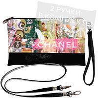 """Клатч с принтом """"Chanel"""""""