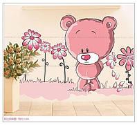 """Интерьерная виниловая наклейка на стену в детскую """"Медвежонок"""""""
