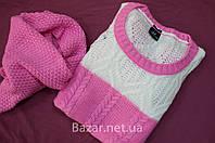 Женский Турецкий  свитер с хомутом розовый