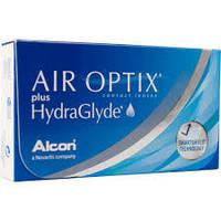 Контакные линзы на 1 месяц  Air Optix  plus HydraGlyde