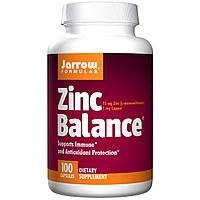 Оксид цинка, Jarrow Formulas, Zinc Balance, 100 капсул