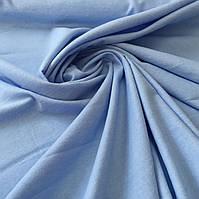 Фланель (байка) голубая однотонная, ширина 95 см, фото 1