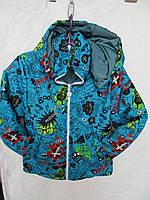 Куртка на мальчика Монстры синтепон  р.6-10 лет купить оптом в Одессе