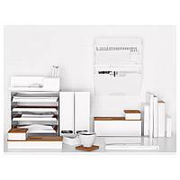 IKEA KVISSLE Ящик с крышкой,4 штуки, пробка, белый : 40198023, 401.980.23