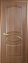 Овал Глухое - Золотая ольха  (60, 70, 80, 90см). Коллекция Фортис DeLuxe. Межкомнатные двери МДФ Новый Стиль