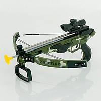Детский арбалет с лазерным прицелом ZY 1909, 420х210х540 мм, стрелы 35 см, в коробке