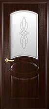 Овал Р1, Каштан  (60, 70, 80, 90см). Коллекция Фортис DeLuxe. Межкомнатные двери МДФ Новый Стиль