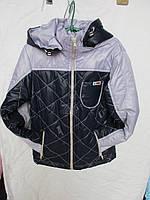Куртка на мальчика Стёганная демисезонная 6-10 лет купить оптом