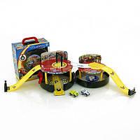 Автотрек детский 828-56 Вспыш и чудо-машинки, BK Toys (Китай), пластик, 3+, в кейсе, 230х250х110 мм