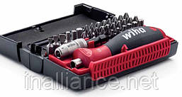 Биты набор 32 штуки, c многокомпонентной магнитной ручкой и магнитным держателем бит, Wiha 34686