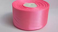 Лента атласная 5 см ярко розовая #05