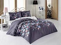 Комплект постельного белья Kristal (Турция) Ecrin серый, 200х220