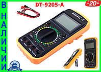 Профессиональный цифровой мультиметр тестер DT-9205А Качество! + щупы + крона!