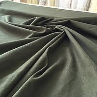Фланель (байка) темно-зеленая (хаки) однотонная
