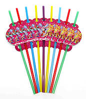 """Коктейльные трубочки """"Winx"""". В упак: 10 шт. Размер: 25см. Диаметр: 5мм."""