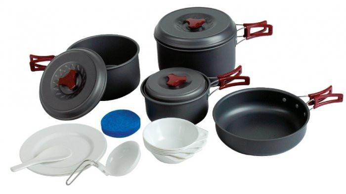 Набор посуды из анодированного алюминия Tramp TRC-026