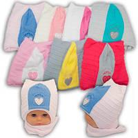 Детский комплект - шапка и шарф для девочки, Grans (Польша), утеплитель Softi Term, A708ST