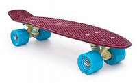 Пенни Борд Miller «Красное Вино» 22,5″ Голубые Колеса / пенниборд скейт (penny board), скейтборд