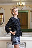 Пиджак жакет из каракульчи черный swakara broadtail jacket  , фото 1
