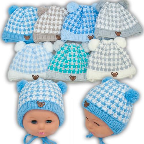 Вязаная шапочка для мальчика, Grans (Польша), утеплитель Softi Term, N95ST