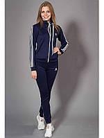 Спортивный женский костюм Adidas цвет темно-синий