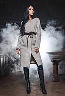 Роскошное Удлиненное Пальто Кашемировое Кремовое