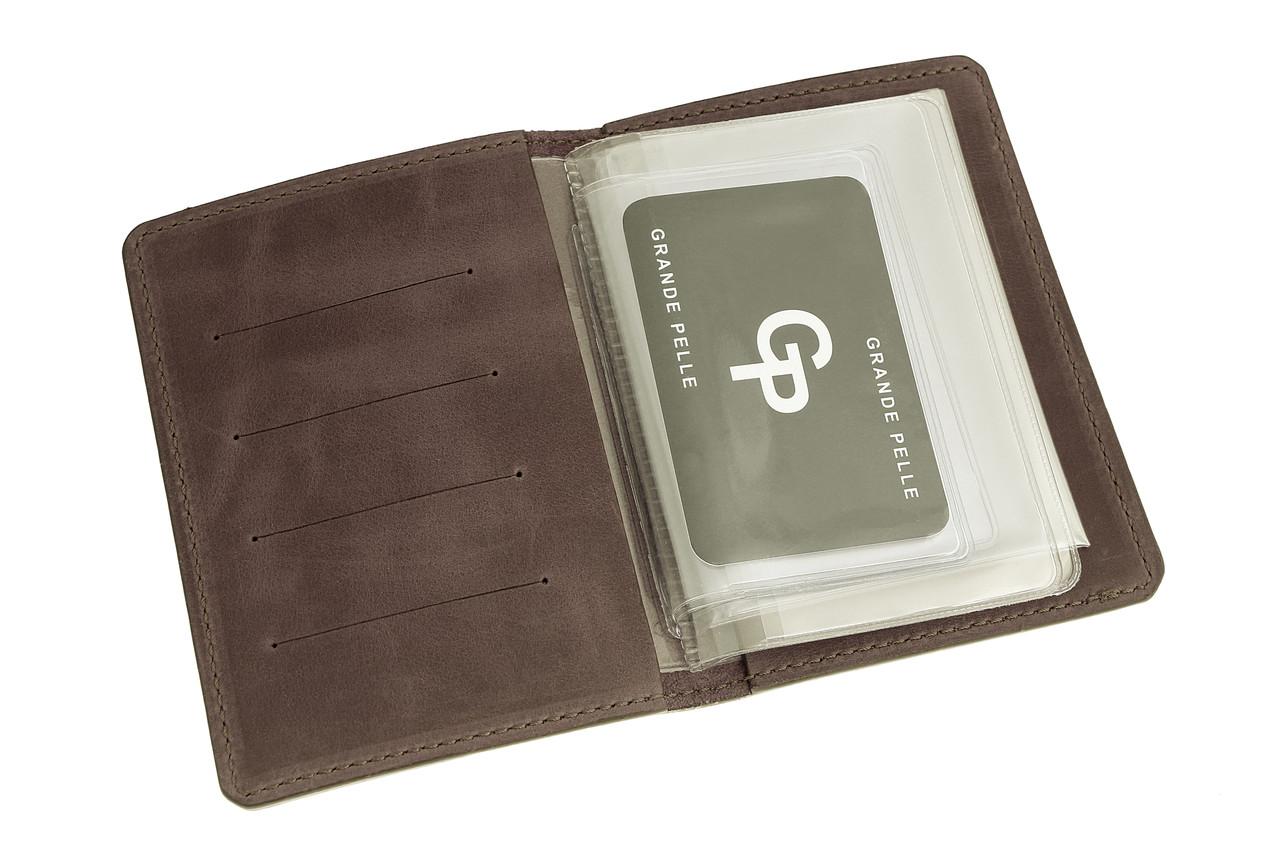 Обложка для автодокументов и паспорта, шоколад матовый