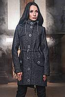 Модное Пальто Парка с Капюшоном Черное