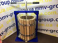 Пресс для сока  Вилен 25 л с деревянной корзиной