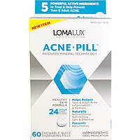 Loma Lux Laboratories, Acne Pill, 60 Chewable Quick Dissolving Pills