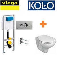 Инсталляция Viega 713386 + унитаз KOLO Idol M1310001U с крышкой Soft-Close (713386+M1310001U)