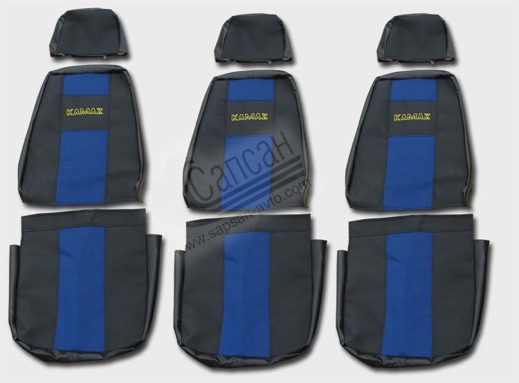 Чехлы сидений кабины ЕВРО (3 высоких улучш.). 87