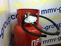 Баллон 27 + Комплект/ Шланг 2м /Редуктор  ,  Новогрудский завод газовой аппаратуры