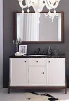Комплект мебели для ванной комнаты Godi US-11 белый/коричневый