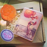 Мыло ручной работы в подарочном наборе Апельсин