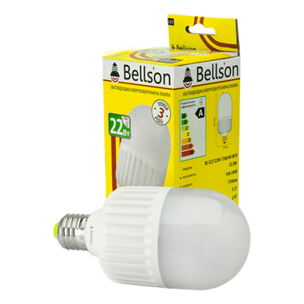 Светодиодная лампа E27 M70 22W Bellson, фото 2