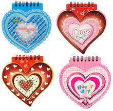 Блокнот на спирали X-161 Сердца-LOVE