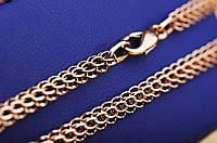 Золотая цепочка, плетение Питон