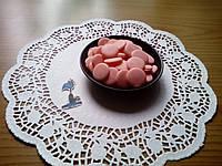 Шоколадные чипсы (монеты) Розовые 250 грамм