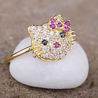 Золотое кольцо детское  (фианиты)