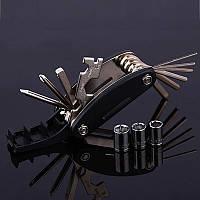 Велосипедный мультитул для ремонта 15 в 1, вело набор шестигранников