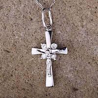 Золотой православный крестик (фианиты)