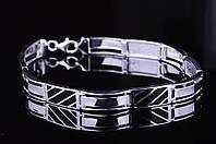 Серебряный мужской браслет (оникс) Украина
